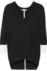 Duffy Wool And Cashmere Blend Sweater Black