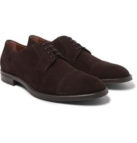 Hugo Boss Coventry Suede Derby Shoes Dark Brown