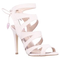Miss Kg Frenchy Cut Out Suede High Heel Sandals Nude