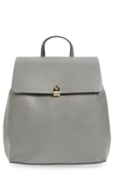 Topshop Barnet Faux Leather Backpack Grey