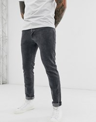 Selected Homme Slim Fit Organic Cotton Jeans In Grey