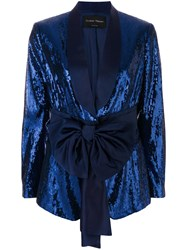 Christian Pellizzari Sequined Smoking Jacket Blue