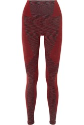 Lndr Resistance Stretch Cotton Blend Leggings Burgundy