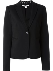 Diane Von Furstenberg One Button Blazer Black