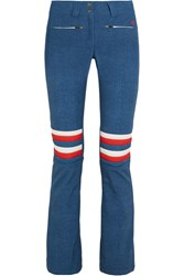 Perfect Moment Aurora Denim Flared Ski Pants Mid Denim