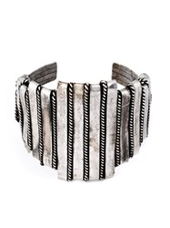 Claude Montana Vintage Striped Cuff Metallic