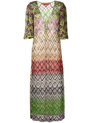 Missoni Open Knit Maxi Cover Up Green