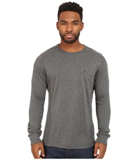 French Connection Cotton Modal Mixed Long Sleeve Charcoal Melange Men's Clothing Gray