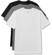 Hugo Boss Three Pack Cotton Jersey T Shirts