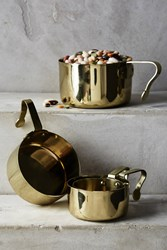 Anthropologie Brass Finished Measuring Cups Gold
