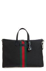Gucci Men's Medium Stripe Band Nylon Tote
