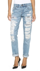 Blank Distressed Boyfriend Jeans Torn To Shreds
