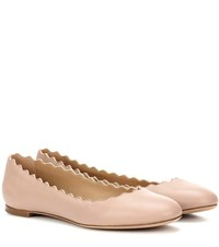 Chloe Lauren Leather Ballerinas Beige
