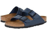 Birkenstock Arizona Soft Footbed Navy Birko Flor Sandals Blue