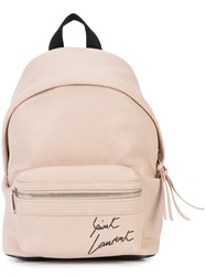 Saint Laurent City Toy Backpack Pink And Purple