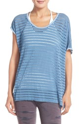 Women's Hard Tail Perforated Jersey Tee Cove