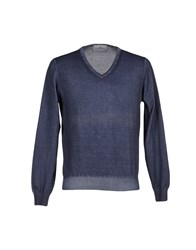 Della Ciana Knitwear Jumpers Men Slate Blue