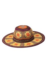 Peter Grimm Fergie Straw Resort Hat Yellow Multi