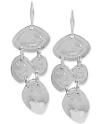 Robert Lee Morris Soho Silver Tone Hammered Multi Disc Drop Earrings