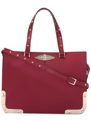 Red Valentino Star Studded Tote Red