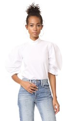 Paper London Rose Top White