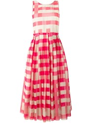 Sara Lanzi Vichy Pinafore Dress Pink