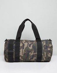 Reclaimed Vintage Camo Barrel Bag Green