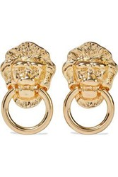 Kenneth Jay Lane Woman Gold Plated Clip Earrings Gold