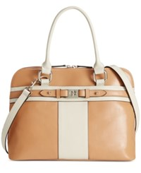 Giani Bernini Glazed Dome Satchel Only At Macy's Spice Bone