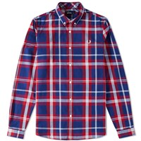 Fred Perry Bold Check Shirt Red