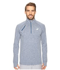Asics Thermopolis 1 2 Zip Poseidon Heather Men's Clothing Blue