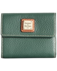 Dooney And Bourke Pebble Small Flap Wallet Hunter