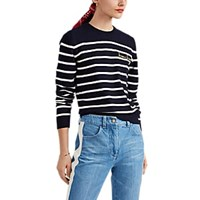 Maison Labiche Bisou Bisou Cotton Wool Striped Sweater Multi