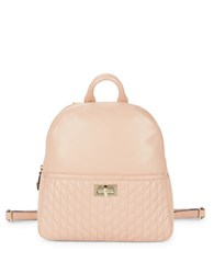 Karl Lagerfeld Quilted Leather Backpack Bisque