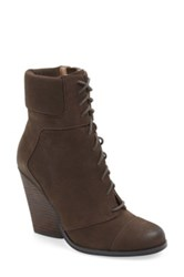 Max Studio 'Remix' Lace Up Wedge Bootie Women Brown