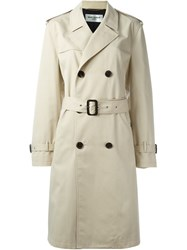 Saint Laurent Classic Trench Coat Nude And Neutrals