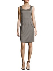 Lafayette 148 New York Textured Scoopneck Dress Charcoal