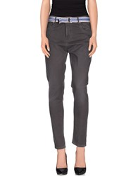 Manila Grace Denim Trousers Casual Trousers Women Steel Grey