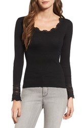 Rosemunde Women's Silk And Cotton Rib Knit Tee