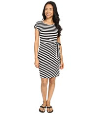 Exofficio Salama Dress Black Striped Women's Dress