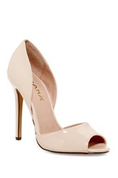 Liliana Zia Open Toe Pump Beige