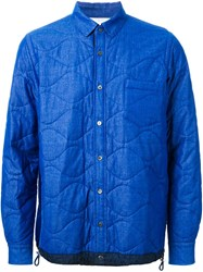 Sacai Quilted Shirt Jacket Blue