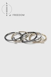 Topshop House Of Freedom Cz Stack Rings Clear