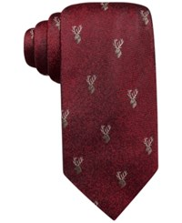 Tasso Elba Stag Novelty Tie Only At Macy's Red