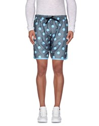 Pagano Trousers Bermuda Shorts Men Turquoise