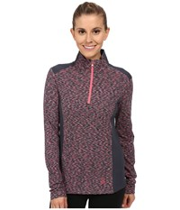 Spyder Bocca Poly Stretch T Neck Depth Bryte Pink White Women's Long Sleeve Pullover
