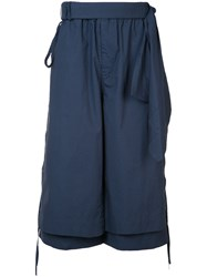 Craig Green Layered Cropped Trousers Blue