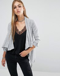 Rock And Religion Mitt Waterfall Cardigan Grey Marl