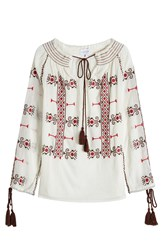 Christophe Sauvat Embroidered Cotton Tunic