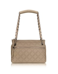 Buti Quilted Leather Shoulder Bag Beige